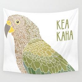 Stay strong little kea Wall Tapestry