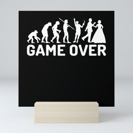 Game Over Evolution Wedding Mini Art Print