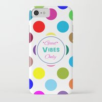 good vibes only iPhone & iPod Cases featuring Good Vibes Only by Miss L in Art