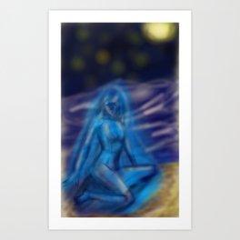 goddess of contempt Art Print