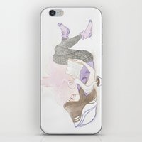 bookworm iPhone & iPod Skins featuring Bookworm  by klt illustrations