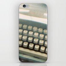 Blue Typewriter TTV iPhone & iPod Skin