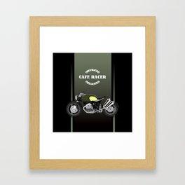 vintage motorcycle poster vector illustration Framed Art Print