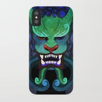 foo fighters iPhone & iPod Cases featuring Foo dog by kitsunebis