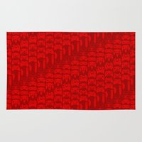 video game Area & Throw Rugs featuring Video Game Controllers - Red by C.Rhodes Design