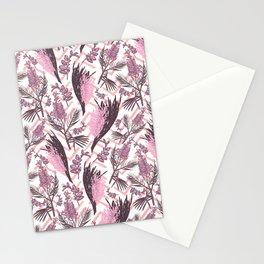 Australian Native Flowers - Pink Fashion Pattern Stationery Cards