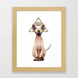 Kitty God Framed Art Print