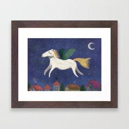 Night Pegasus Framed Art Print