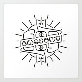 God is Awesome Ambigram Art Print