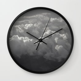 Clouds Above The Darkness Wall Clock