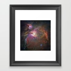 The Orion Nebula by Hubble Space Telescope Framed Art Print