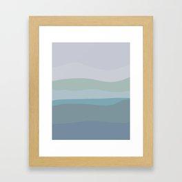 Calming Ocean Waves in Soft Dusty Pastels Framed Art Print