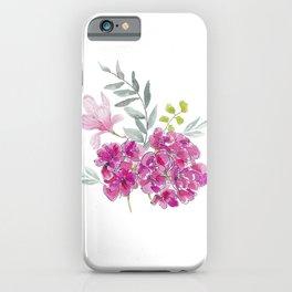 Malvon bouquet iPhone Case