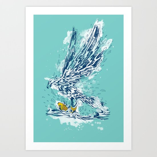 golden catch Art Print