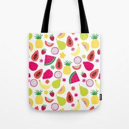Tutti Frutti Summer Fruit Pattern Tote Bag