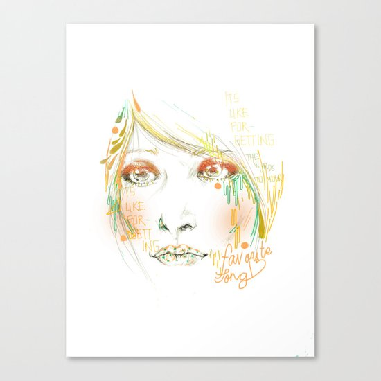 Favorite Song Canvas Print