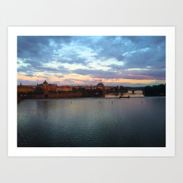 Prague Evening Art Print