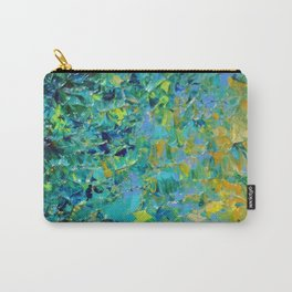 BEAUTY BENEATH THE SURFACE - Stunning Ocean River Water Nature Green Blue Teal Yellow Aqua Abstract Carry-All Pouch