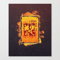 I mold my future Canvas Print