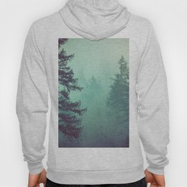 Forest Fog Fir Trees Hoody