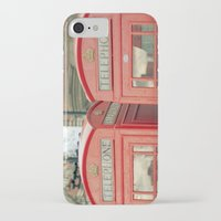 telephone iPhone & iPod Cases featuring Telephone by The Last Sparrow