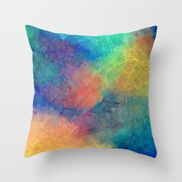 Reflecting Multi Colorful Abstract Prisms Design Throw Pillow
