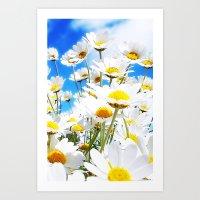 daisy Art Prints featuring DAISY by Ylenia Pizzetti