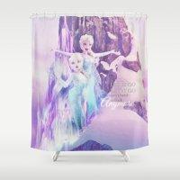 elsa Shower Curtains featuring Elsa by LaurenMichelle