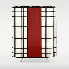 Shoji - red Shower Curtain