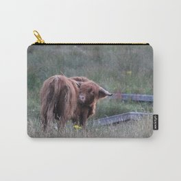 Highland Cow Scratching Itself Carry-All Pouch