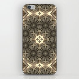 Victorian Art Deco Medieval Pattern light brown SB23 iPhone Skin