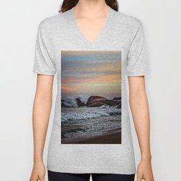 Sri Lankan Sunset Unisex V-Neck
