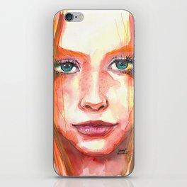 Portrait - RedHair & Freckles iPhone Skin
