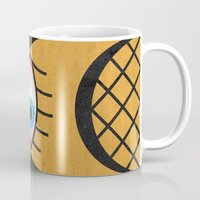 third eye Mugs featuring THIRD EYE by Daniele Vittadello