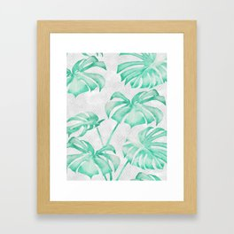 city leaf Framed Art Print