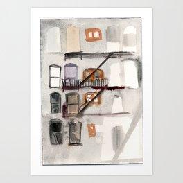 Bushwick Fire Escape Art Print