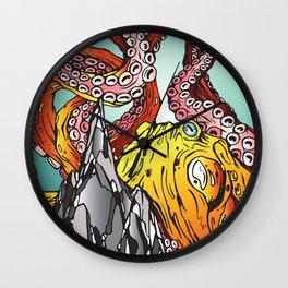 Kraken the Mountain Wall Clock