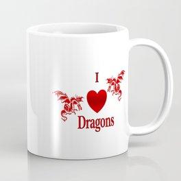 I Heart Dragons Coffee Mug
