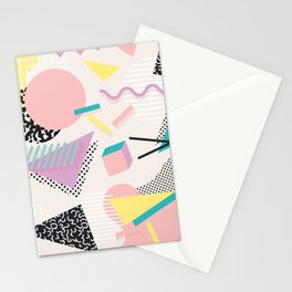Memphis Design Inspired Pattern Stationery Cards