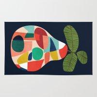 pear Area & Throw Rugs featuring Fresh Pear by Picomodi