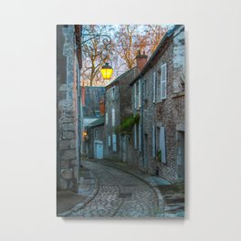 Beaugency country cobbled lane France Metal Print