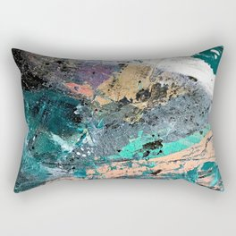01011: colorful, abstract, wild, and unique Rectangular Pillow