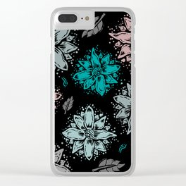 Delicate Flowers Clear iPhone Case