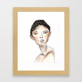 Bonnie in White Framed Art Print