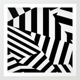 RADAR/ASDIC Black and White Graphic Dazzle Camouflage Art Print