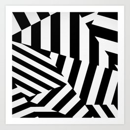 RADAR/ASDIC Black and White Graphic Dazzle Camouflage Art Print