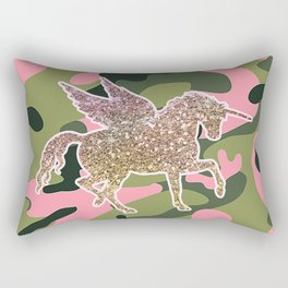 Girl Power Flying Unicorn Rectangular Pillow