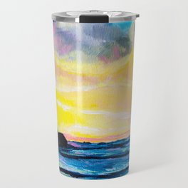 Short Sands Sunset Travel Mug