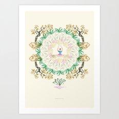 yoga garden I Art Print