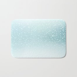 An illustration of the water bubbles background.  Bath Mat